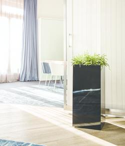 Висока Кашпа за цветя със система - STEEL PLUS (35x35x70h)