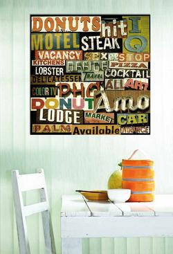 Декоративно пано за стена - G1276 (100x100)