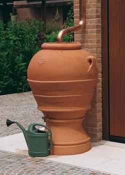 съд за събиране на дъждовна вода 385 литра, diam 97/96 sm H, от 100 % рециклируем полиетилен  внос от Италия  EURO3PLAST