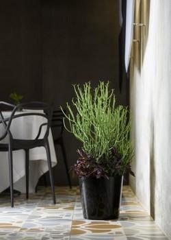 кръгла кашпа за цветя на колела с диам 35/34 см Н гланц MEY